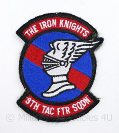 USAF The Iron Knights 9th Tactical Fighter Squadron embleem - met klittenband - 10 x 8 cm - origineel