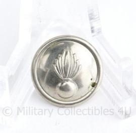 Kmar Marechaussee vroeg model knoop 15 MM zilver - origineel