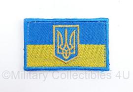Oekraïense mouw vlag embleem - met klittenband - 7,5 x 5 cm - origineel