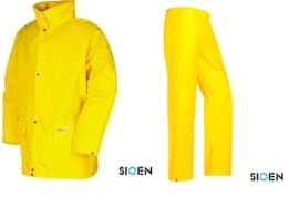 Regenpak industrieel jas en broek - merk Sioen Flexothane Essential - nieuw in verpakking - maat XL - origineel
