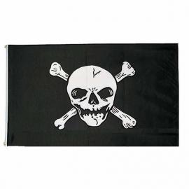 Piraten vlag - doodskop vlag - Polyester -  1 x 1,5 meter