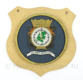 KM Marine wandbord Marine Opleiding Voorschoten - afmeting 16 x 15 x 0,5 cm - origineel