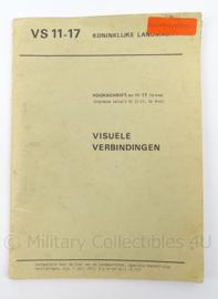 KL Landmacht Voorschrift Visuele Verbindingen - VS 11-17 - afmeting 22 x 16 cm - origineel