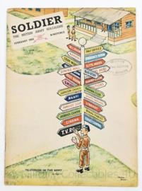 The British Army Magazine Soldier February 1954 -  Afkomstig uit de Nederlandse MVO bibliotheek - 30 x 22 cm - origineel