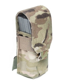 Warrior Assault Systems Single M4 5.56mm Mag Pouch / Non Slip Retention - 2 Mags - Multicam - NIEUW