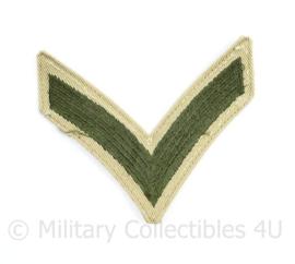 US Army tropen tenue rang streep ENKEL - 8 x 9 cm - origineel