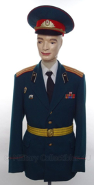 Russische leger officiers uniform SET jas, overhemd, stropdas, pet en koppel - met originele insignes en medailles - Major - maat Small - origineel