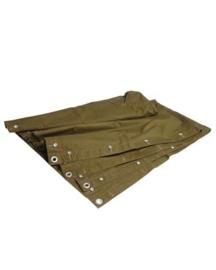 ABL Poncho / tentzeil khaki - van stof - 1,6 x 1,8m - origineel