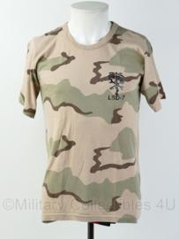 KL Nederlandse leger desert camo LSD-7 shirt Logistic Support Detachment  Uruzgan - gedragen - maat XL - origineel
