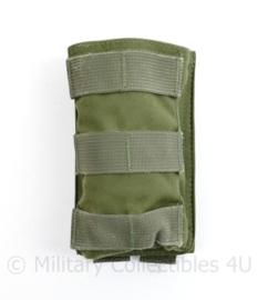 Defensie en Korps Mariniers Warrior Assault Systems Molle tas Single magazin pouch groen M4 C7 - 14 x 8 x 3 cm - origineel