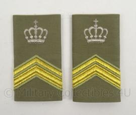 KL Landmacht Stratotex epauletten rang Sergeant Majoor Instructeur - per paar - afmeting 5 x 9 cm - origineel