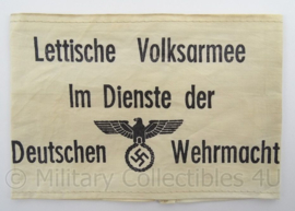 WO2 Duitse armband verouderd - Lettische Volksarmee im dienst der Deutschen Wehrmacht - afmeting 12 x 19 cm - replica
