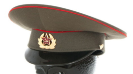 Russische leger pet groen met rode bies - 54 tm. 56 cm. - origineel