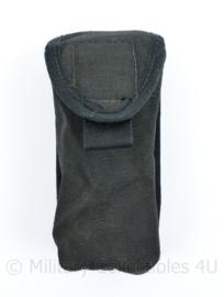 Defensie zwarte kleine MOLLE opbouwtas met klittenband sluiting Utility pouch - 15 x 7,5 x 5 cm - origineel