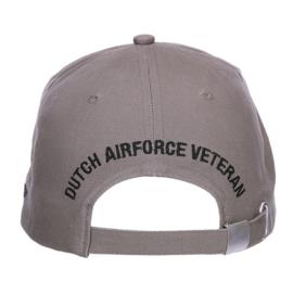 Baseball cap KLU Koninklijke Luchtmacht Dutch AirForce Veteran - grijs