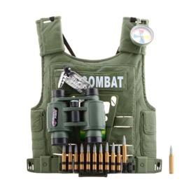 Tactical kunststof vest voor KINDEREN - met 4 toebehoren - groen