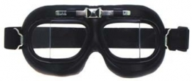 Piloten bril of brommer bril - zwart frame met heldere glazen
