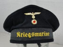 Kriegsmarine matrozen Tellermutze - blauw - 57 tm. 60 cm.