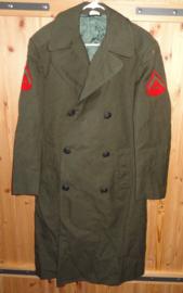 USMC US Marine Corps mantel overjas Overcoat Man's Wool - Lance Corporal - size 38L= NL 48 Lang (valt groot) - origineel