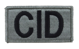 US Army Foliage patch - Criminal Investigation Command (CID) - met klittenband - voor ACU camo uniform - 8,5 x 5 cm - origineel