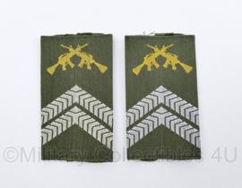 KL Nederlandse leger GVT epauletten schouderstukken set - Korporaal 1 Olk - origineel