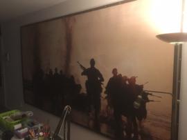 Korps Mariniers officiële promotionele poster voor open dagen - 3,5 x 1,9 meter groot!