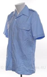KMAR Koninklijke Marechaussee overhemd blauw - licht gebruikt - korte mouwen - maat 40, 45 of 50(=3xl) - origineel