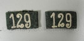 Schouderstuk Aufschiebeschlaufen Infanterie Regiment 129- origineel WO2 Duits