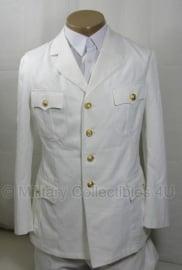 Wit marine uniform jas met gouden knopen - origineel