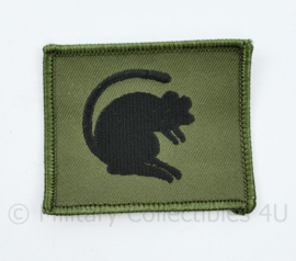 Britse naoorlogse Desert Rats eenheid patch 7th armoured division - 6 x 7 cm - origineel