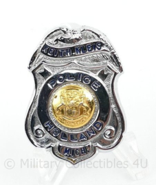 US Police mini brevet Keith Kleis Police Holland Michigan - 4 x 3 cm - origineel