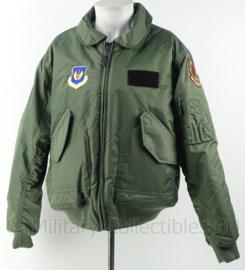US Teesar CWU pilot jacket Bitburg Airbase 53 fighter squadron - Flyer jacket cold weather - maat L - origineel