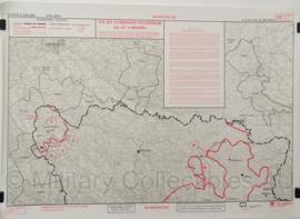 UN Profor Un Command Restricted topografische kaart 1:500 000 - 65 x 47 cm - origineel