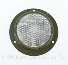 KL en US Army ronde voertuig reflector Wit - diameter 9 cm - origineel