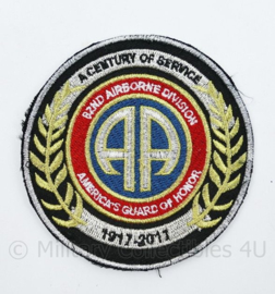 All American A Century of Service patch 1917 - 2017 - diameter 9 cm - origineel