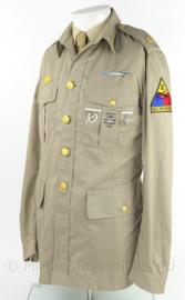 US Army uniform jas met rang Major - Armored division - decoratief samengesteld - maat 24 - origineel
