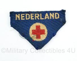 MVO Rode kruis embleem Nederland gevouwen - 8 x 6 cm - origineel