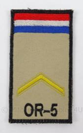 KL Landmacht borst rang embleem nieuwste model - NATO rang Sergeant OR-5 - afmeting 5 x 9 cm - origineel