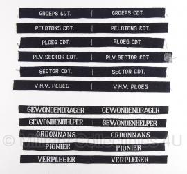Bescherming Bevolking (BB) - straatnamen verzameling 11 stuks!- origineel