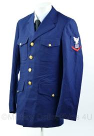 US Navy uniformjas met originele insignes - maat 38L = NL 48 lang -  origineel
