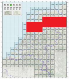 KL Nederlandse leger topografische stafkaart 1:50000 - nr. 11 t/m 20 - op rol - 60 x 60 cm - origineel