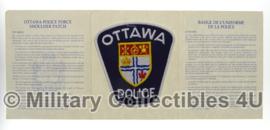 Ottowa police patch met bijbehorende boekje - origineel
