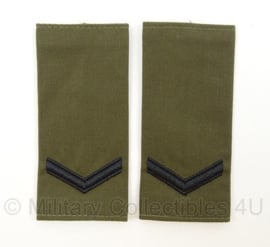 """KM Korps Mariniers schouder epauletten """"Marinier der 1e klasse"""" - afmeting 5 x 11 cm - origineel"""