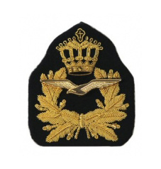 KLU Koninklijke Luchtmacht OFFICIER pet embleem - 6 x 5,5 cm - origineel