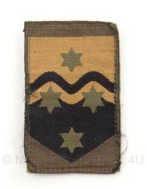 KL Nederlandse leger Nationaal Logistiek Commando arm embleem 8 x 5,5 cm. - met klittenband - origineel