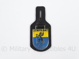 KL Landmacht DT borsthanger SchoolBat.Schoolbataljon  - afmeting 4 x 9 cm - origineel