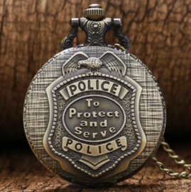 Vintage zakhorloge US POLICE To Protect and Serve