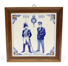 Kmar Koninklijke Marechaussee  1814-1974 160 jaar wand tegel - 15 x 15,5 cm - origineel