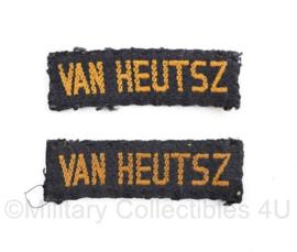 MVO straatnaam PAAR Van Heusz  - model jan 1951 tot dec 1962 - 6,5 x 2 cm - origineel