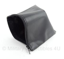 Politie en KMAER handboeien tas - zwart leder - LEEG - origineel